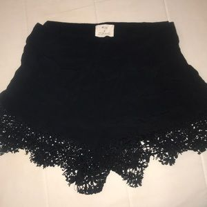 High waisted black urban outfitters lace shorts